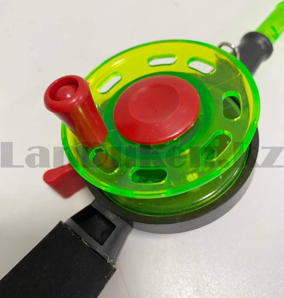 Зимняя удочка для блеснения разборная (зеленая катушка) 50,5 см - фото 2