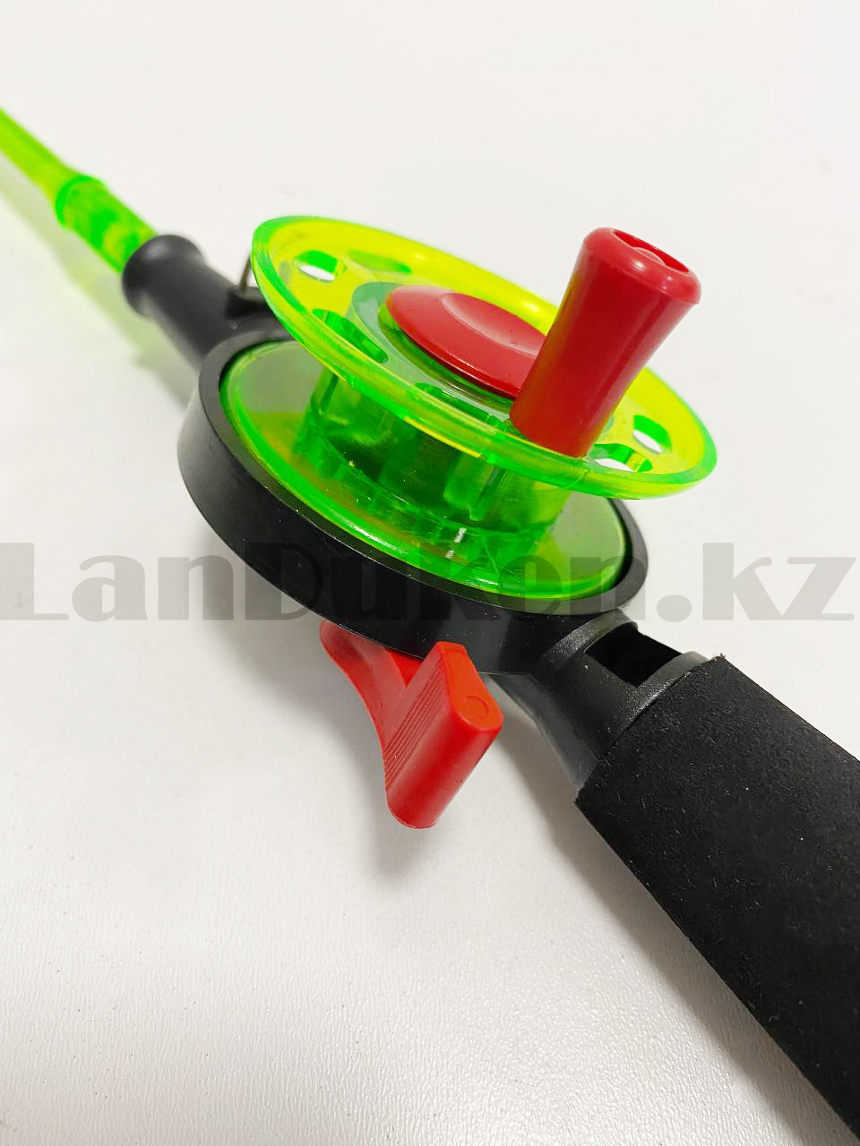 Зимняя удочка для блеснения разборная (зеленая катушка) 50,5 см - фото 3