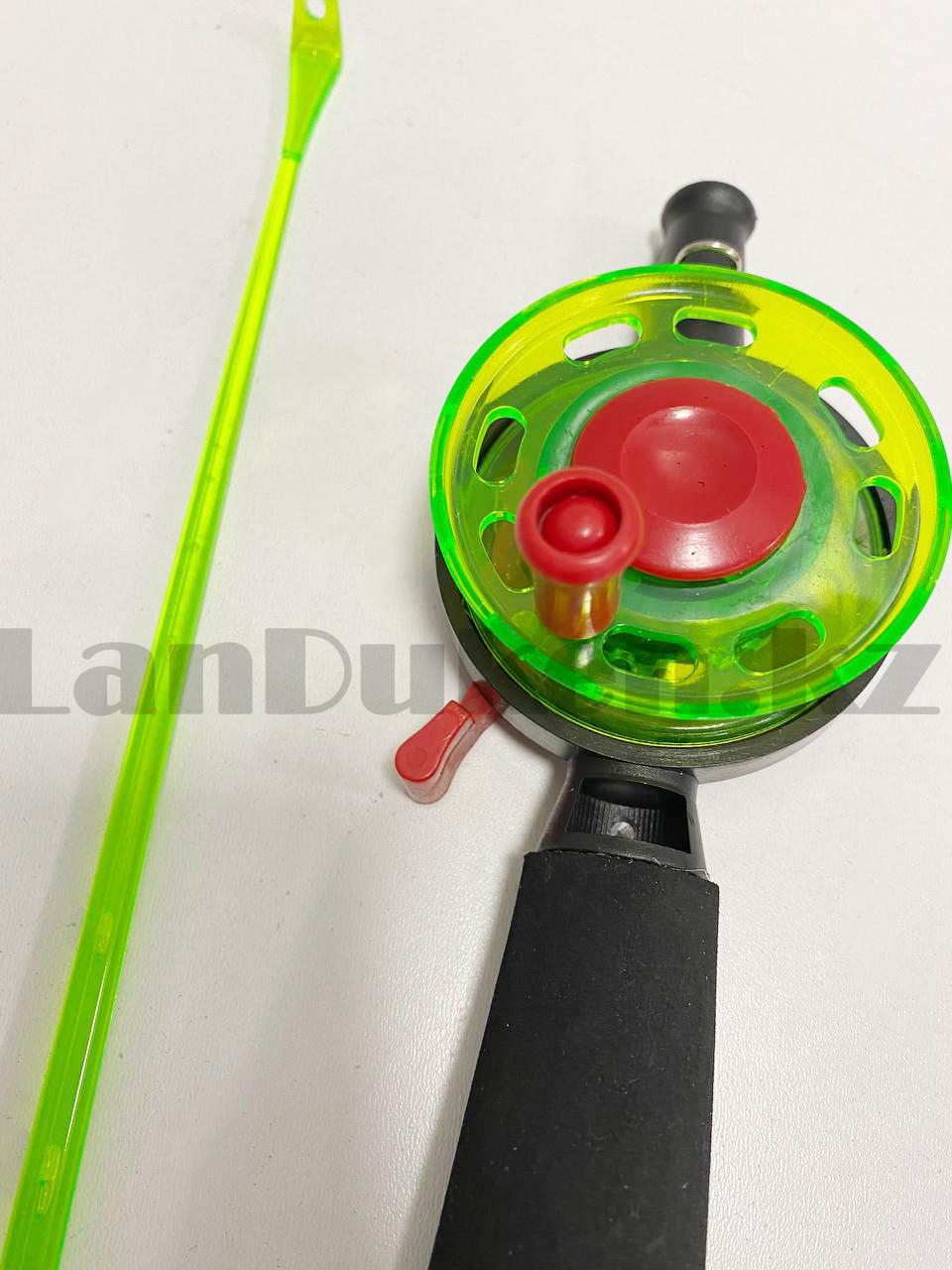 Зимняя удочка для блеснения разборная (зеленая катушка) 50,5 см - фото 4
