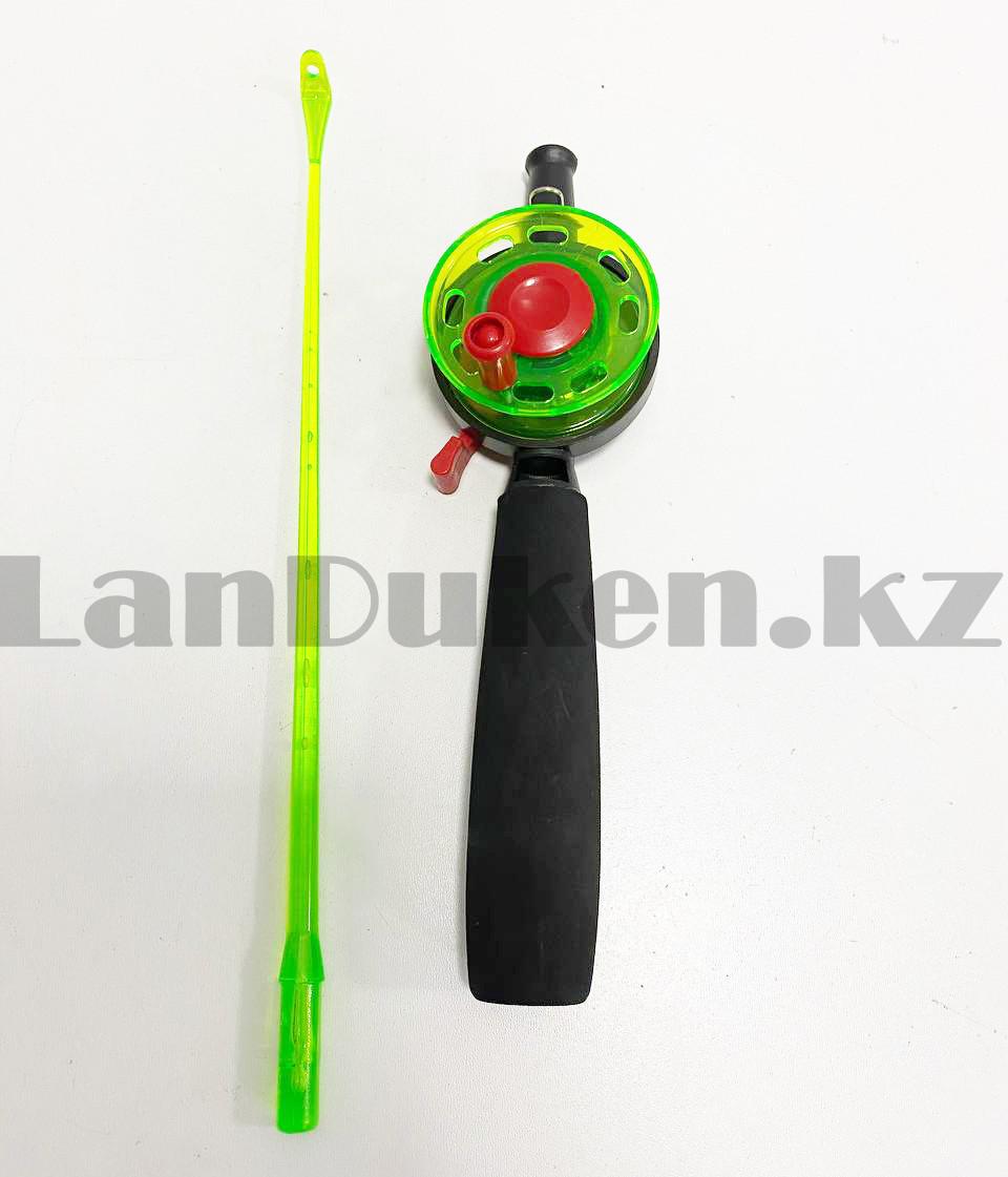 Зимняя удочка для блеснения разборная (зеленая катушка) 50,5 см - фото 5