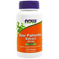 БАД Экстракт пальмы сереноа, Saw Palmetto, Now Foods для простаты (120 капсул)