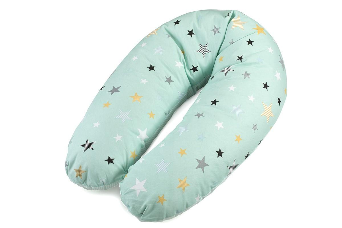 Подушка для беременных и кормящих мам (Холлофайбер+шарики антистресс) - фото 1