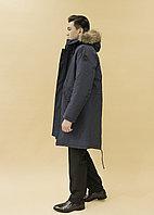 Мужской пуховик синий (биопух)