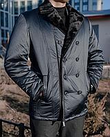 Мужская куртка (натуральный мутон воротник) кэжуал