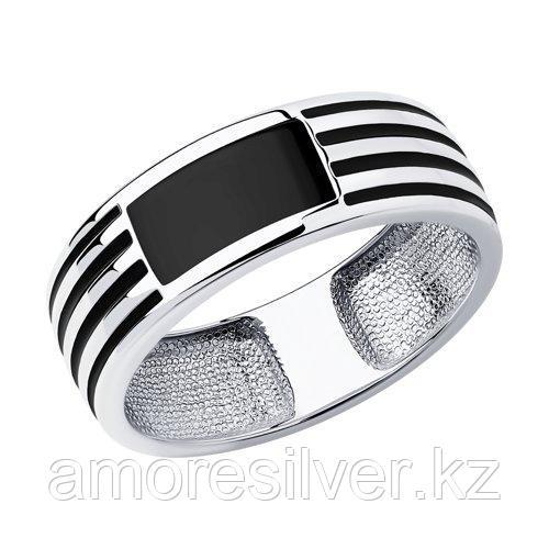 Кольцо SOKOLOV серебро с родием, эмаль 94011867 размеры - 19