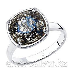 "Кольцо SOKOLOV серебро с родием, кристалл swarovski , ""каратник"" 94012056 размеры - 17 17,5 18 18,5 19 19,5"