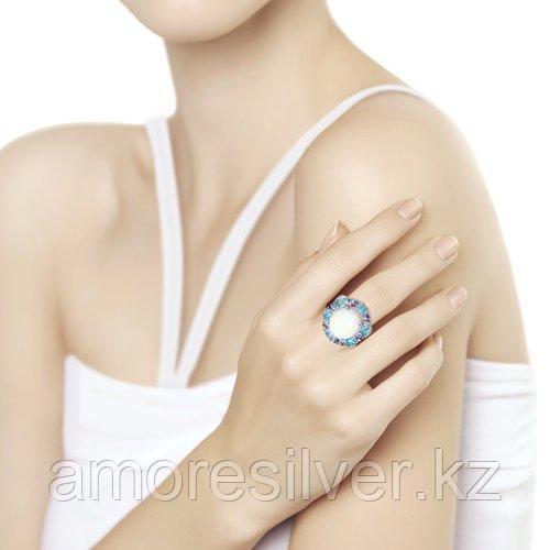 Кольцо SOKOLOV серебро с родием, опал синт. фианит , круг 83010050 - фото 2