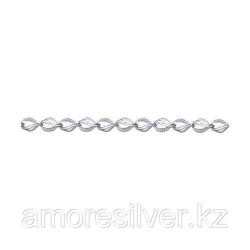 Браслет SOKOLOV серебро с родием, фианит  94050364