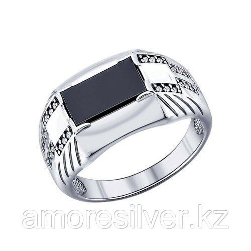 Печатка мужчинам SOKOLOV серебро с родием, фианит  наношпинель  94011394