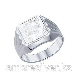 Печатка SOKOLOV серебро с родием, без вставок 94011234