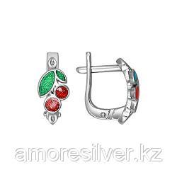 Серьги SOKOLOV серебро с родием, эмаль 94021190