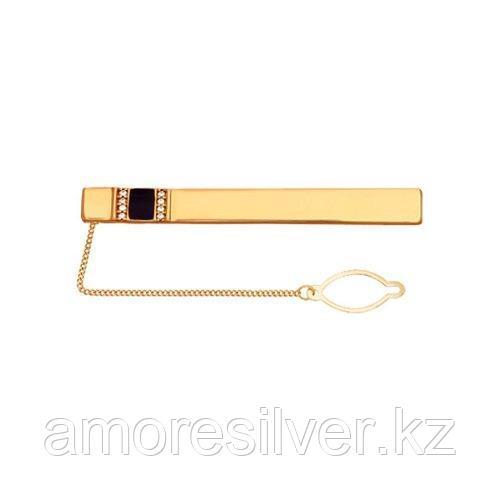 Зажимы для галстука SOKOLOV серебро с позолотой, эмаль фианит  93090004