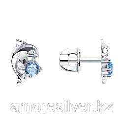 Серьги SOKOLOV серебро с родием, фианит  94020543