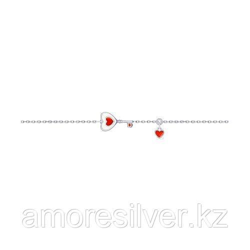 Браслет SOKOLOV серебро с родием, эмаль, символы 94050445