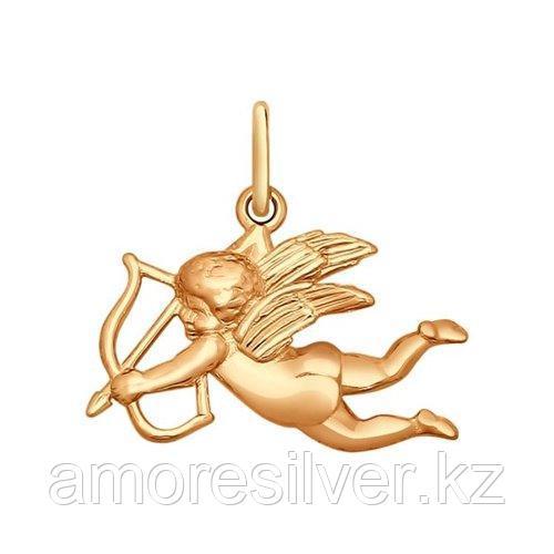 Подвеска ангел из золочёного серебра SOKOLOV 93030070