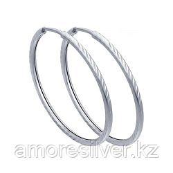 Серьги SOKOLOV серебро с родием, без вставок 94140073
