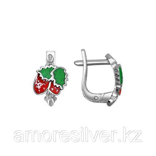 Серьги детям SOKOLOV серебро с родием, эмаль 94021192