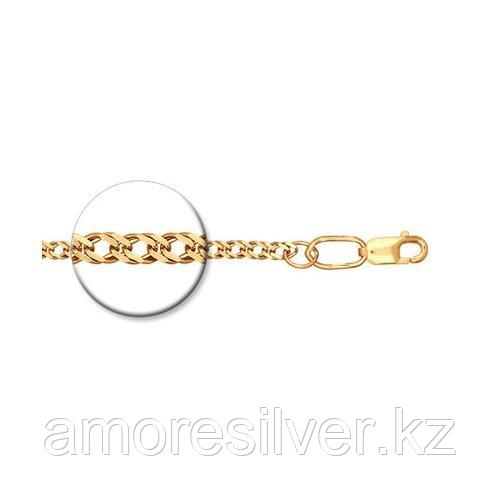 Цепь SOKOLOV серебро с позолотой, без вставок, ромб двойной 988040402 размеры - 40 45 50 55 60