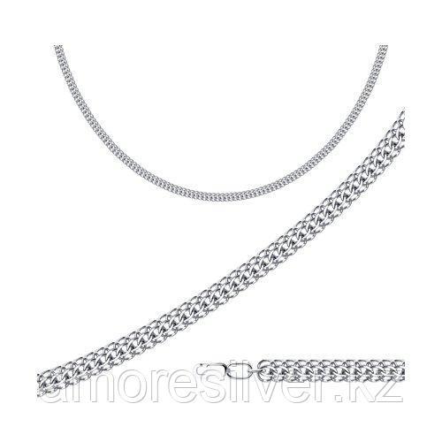 Цепь SOKOLOV серебро с родием, без вставок, питон 968150504 размеры - 45 50 55 60 65