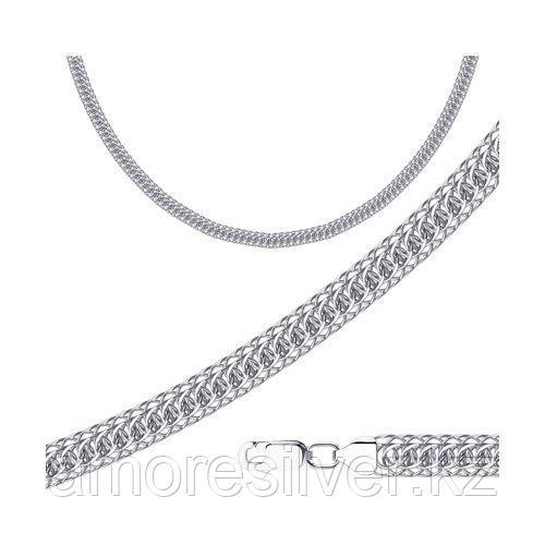 Цепь SOKOLOV серебро с родием, без вставок, скорпион 968300602 размеры - 50 55 60