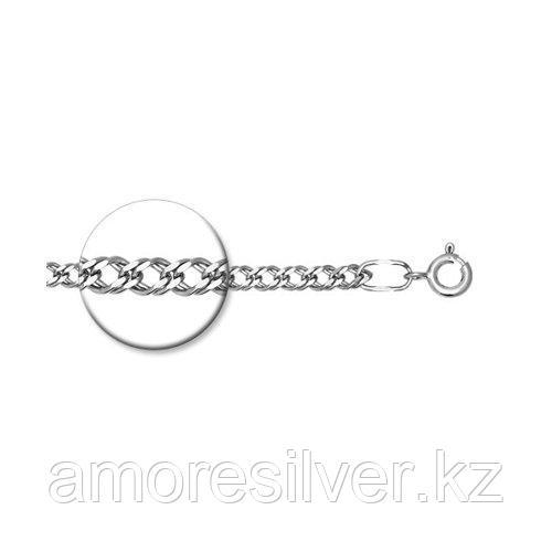 Браслет SOKOLOV серебро с родием, без вставок, ромб двойной 965040602 размеры - 16 17 18 19 20