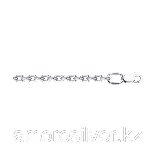 Цепь SOKOLOV серебро с родием, без вставок, якорь 968030804 размеры - 50 55 60 65