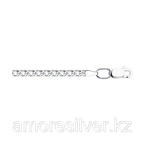 Цепь SOKOLOV серебро с родием, без вставок, ромб двойной 968040502 размеры - 40 45 50 55 60 65