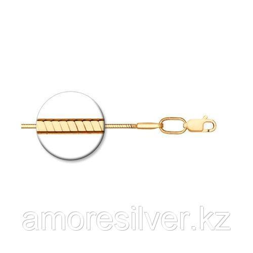 Цепь SOKOLOV серебро с позолотой, без вставок, снейк 988010408 размеры - 40