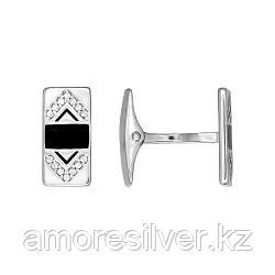 Мужские запонки мужчинам SOKOLOV серебро с родием, эмаль фианит  94160035