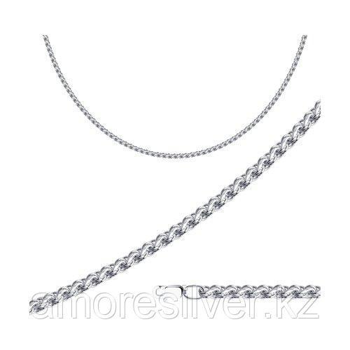 Цепь SOKOLOV серебро с родием, без вставок, скорпион 968100704 размеры - 50