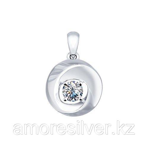 Подвеска SOKOLOV серебро с родием, фианит  94031540