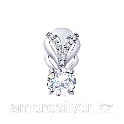 Подвеска SOKOLOV серебро с родием, фианит swarovski  89030034