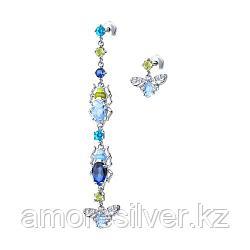 SOKOLOV серебро с родием, эмаль фианит  94023625