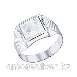 Печатка SOKOLOV серебро с родием, без вставок 94011231