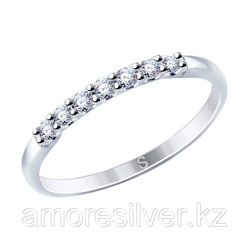 Кольцо SOKOLOV серебро с родием, фианит  94012721 размеры - 15