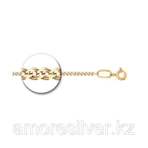 Цепь SOKOLOV серебро с позолотой, без вставок, нонна 988060302 размеры - 45 50 55