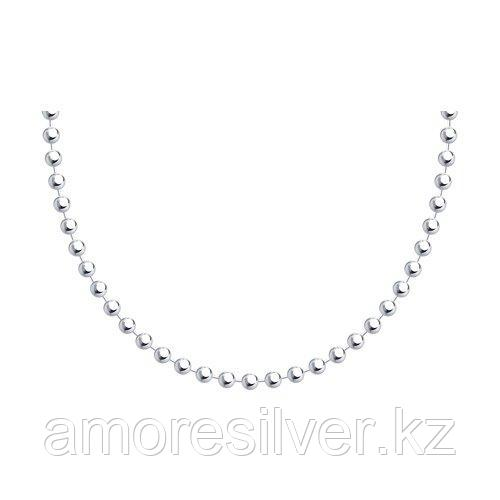Цепь SOKOLOV серебро с родием, без вставок, фантазийные 94074628 размеры - 45