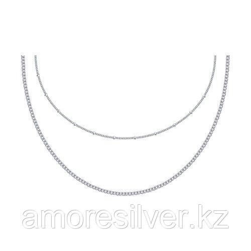 Цепь SOKOLOV серебро с родием, без вставок 94074633 размеры - 35