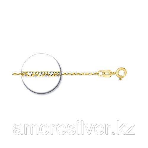 Колье SOKOLOV серебро с позолотой, без вставок 94074443 размеры - 50
