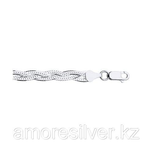 Колье SOKOLOV серебро с родием, без вставок 94074420 размеры - 45 50 55