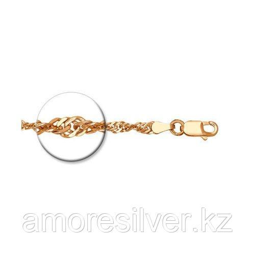Цепь SOKOLOV серебро с позолотой, без вставок, сингапур 988090502 размеры - 45 50 55 60
