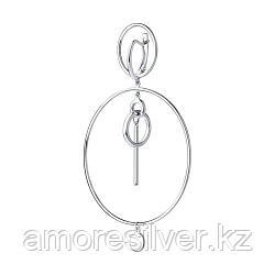 Серьга SOKOLOV серебро с родием, без вставок 94170084