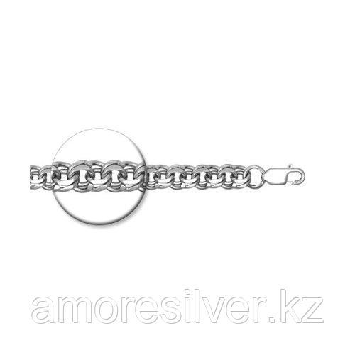 Браслет мужчинам SOKOLOV серебро с родием, без вставок, бисмарк 965141004 размеры - 18 19 22 23