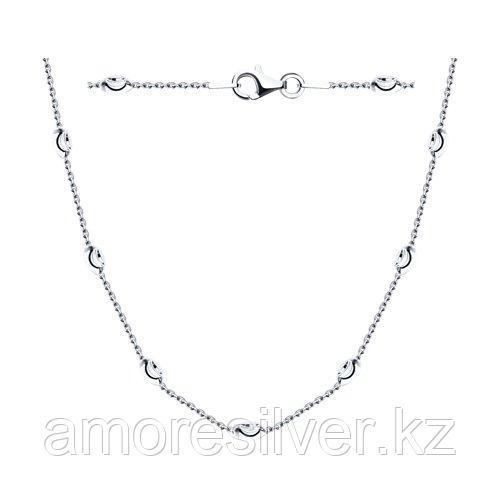Колье SOKOLOV серебро с родием, без вставок 94074460 размеры - 40 50 55