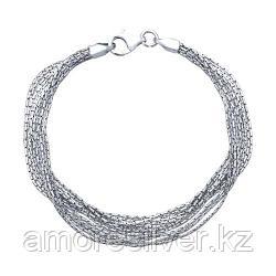 Серебряный многослойный браслет  SOKOLOV 94054539 размеры - 17 18 19