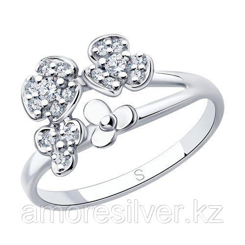 Кольцо из серебра с фианитами    SOKOLOV 94013041