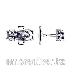 Запонки SOKOLOV из черненного серебра, без вставок 95160010