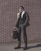 Кэжуал куртка с воротником (мутон)