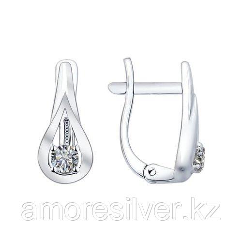 Серьги SOKOLOV серебро с родием, фианит  94021825