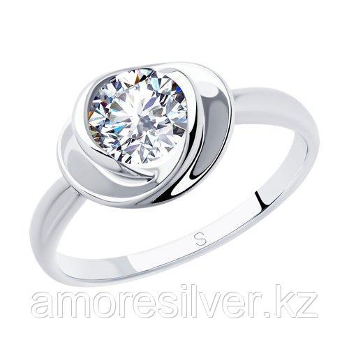 Кольцо SOKOLOV серебро с родием, фианит  94012882 размеры - 18,5 19,5